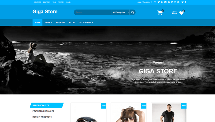 Giga Store WordPress Thema