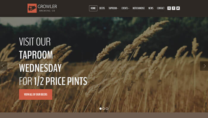 Growler WordPress Thema