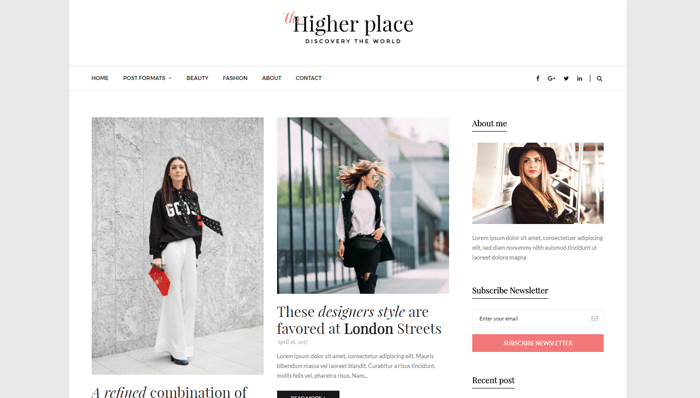 Higher Place WordPress Thema