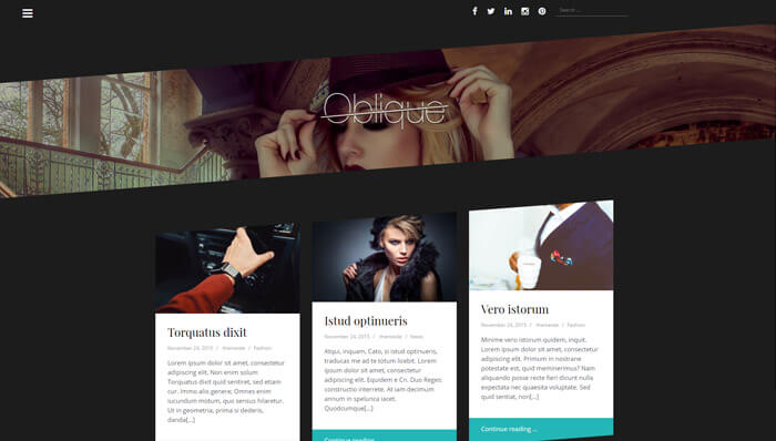 Oblique WordPress Thema