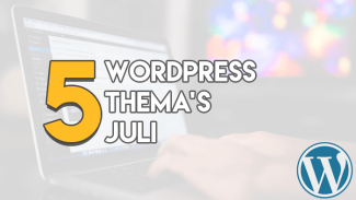 Top 5 WordPress Thema's Juli