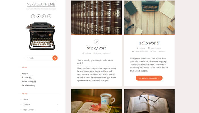 Verbosa WordPress Thema