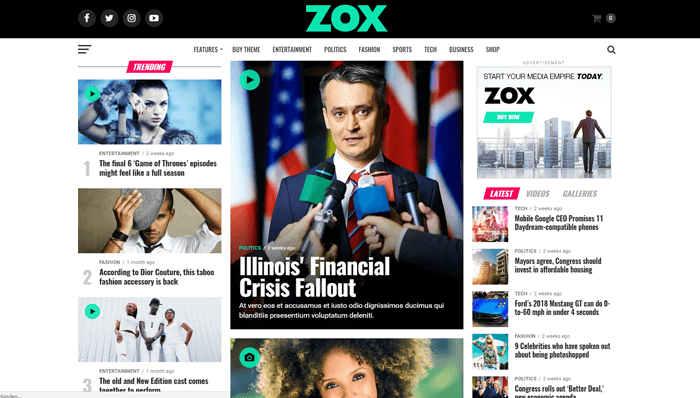 Zox News WordPress Thema
