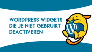 WordPress widgets deactiveren