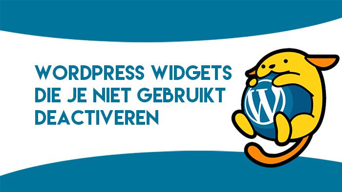 WordPress widgets deactiveren