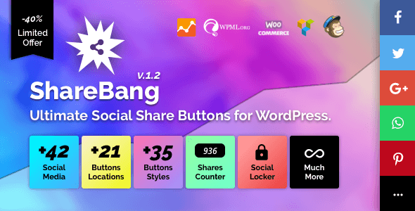 ShareBang, Social Share Buttons
