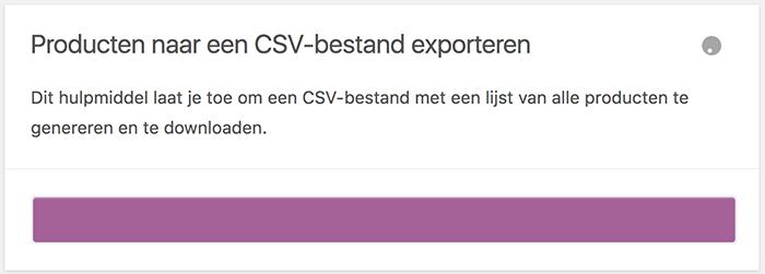WooCommerce CSV genereren van de producten