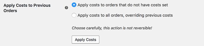 Cost of goods hanteren voor bestaande bestellingen