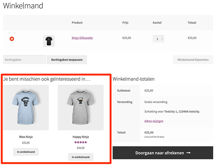 Cross-sells in WooCommerce