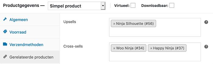 Gerelateerde producten toevoegen aan een product in WooCommerce