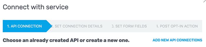 Nieuwe API connectie toevoegen