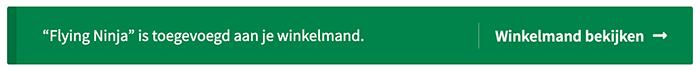 Melding nadat een product toegevoegd is aan de winkelmand in WooCommerce