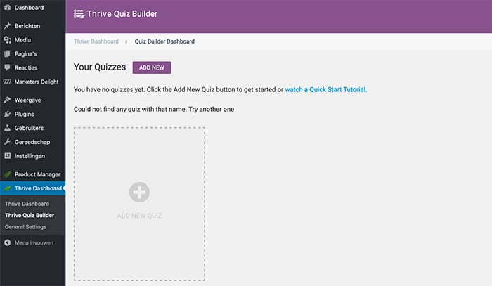 Quiz maken in WordPress met Thrive Quiz Builder