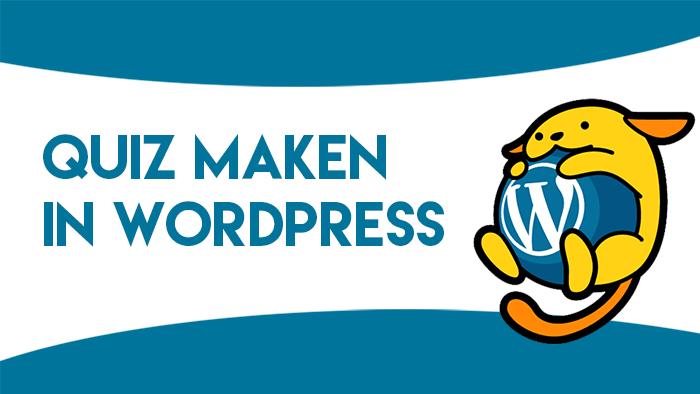 Quiz maken in WordPress