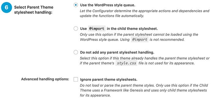 Hoe je omgaat met de stylesheet van het hoofd thema