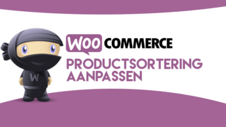 WooCommerce productsortering aanpassen