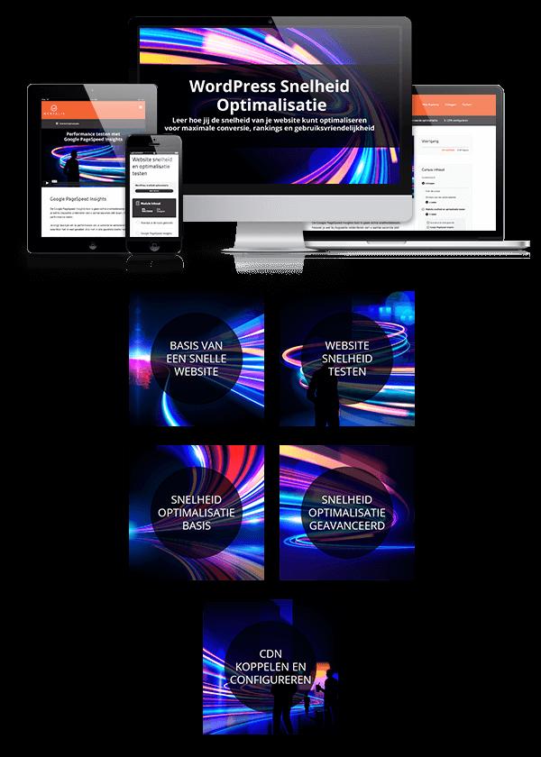 Mockup website snelheid optimalisatie in het klein
