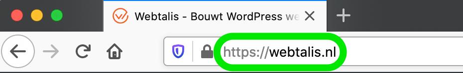 Domeinnaam webtalis.nl