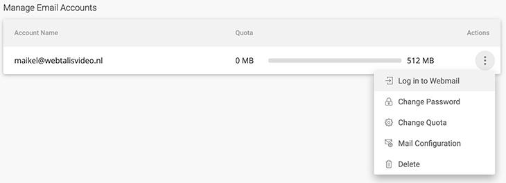 Mailadres configureren