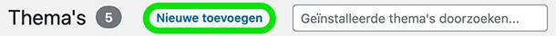 Nieuw WordPress thema toevoegen