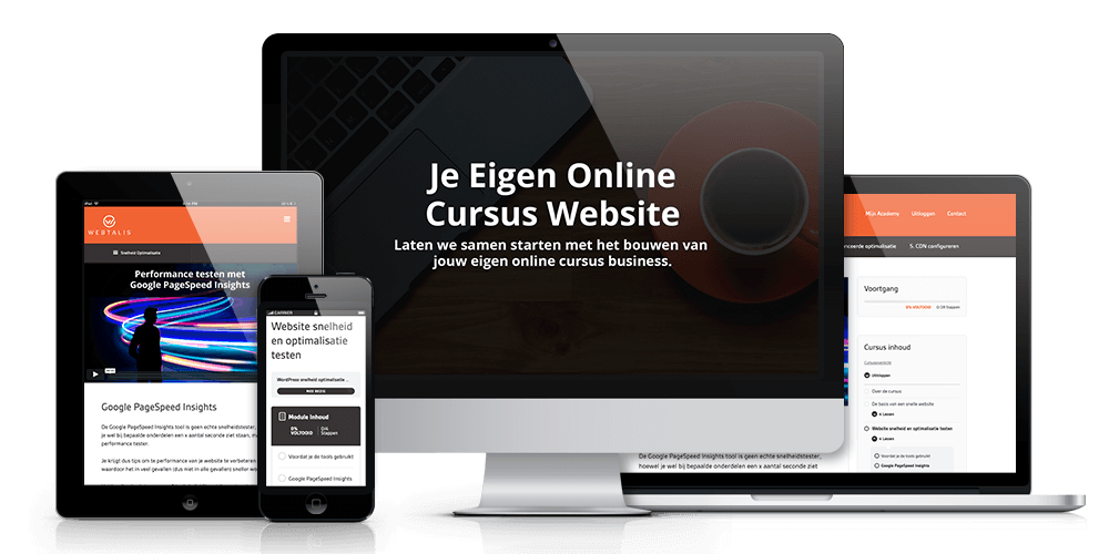 Online cursus website met WordPress