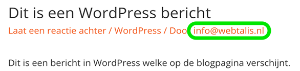 Schermnaam in WordPress