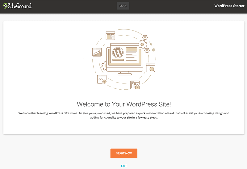SiteGround WordPress Starter Wizard