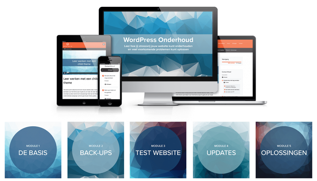WordPress Onderhoud Mockup