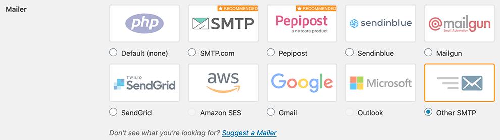 WP mailer instellen