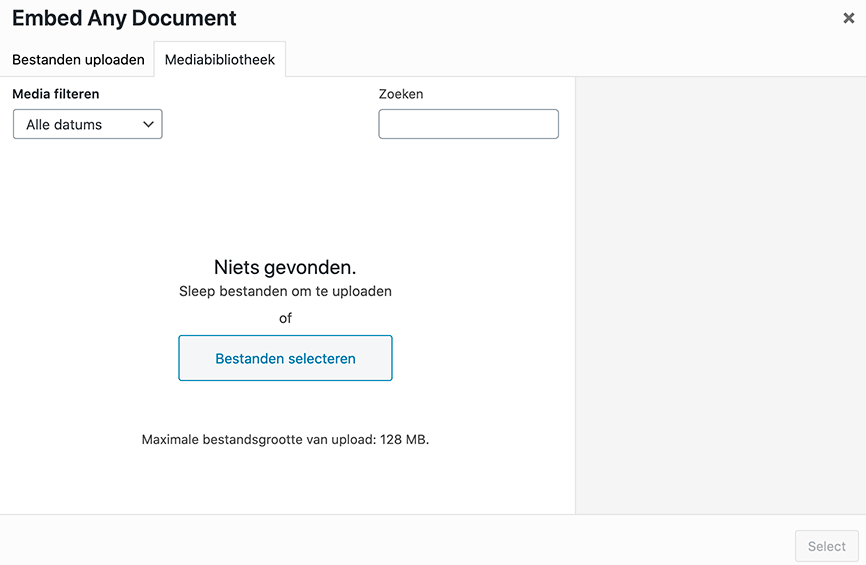 Document uploaden
