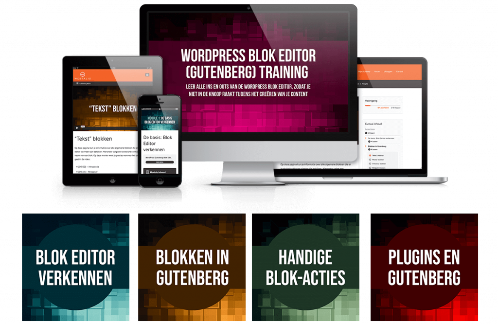 Mockup WordPress Gutenberg Blok Editor Training
