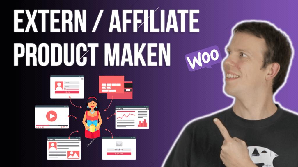 Extern / Affiliate product aanmaken in WooCommerce