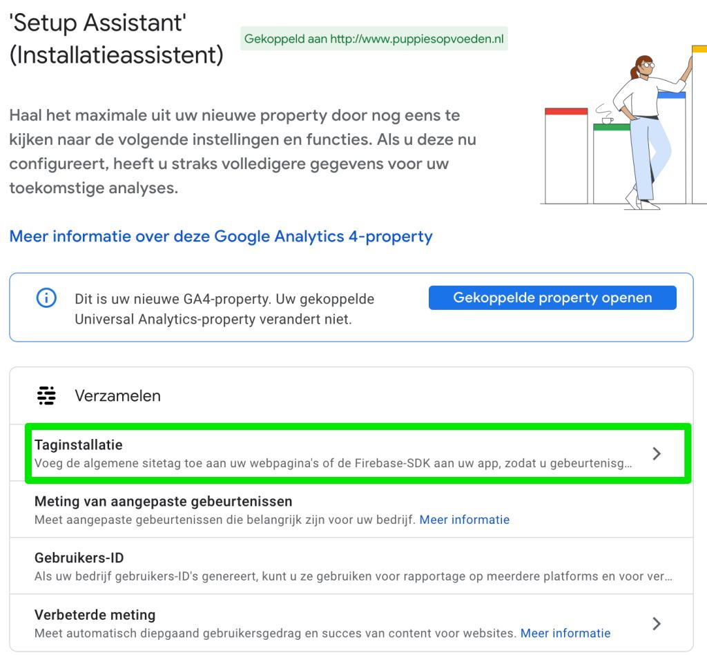 Google Analytics 4 taginstallatie