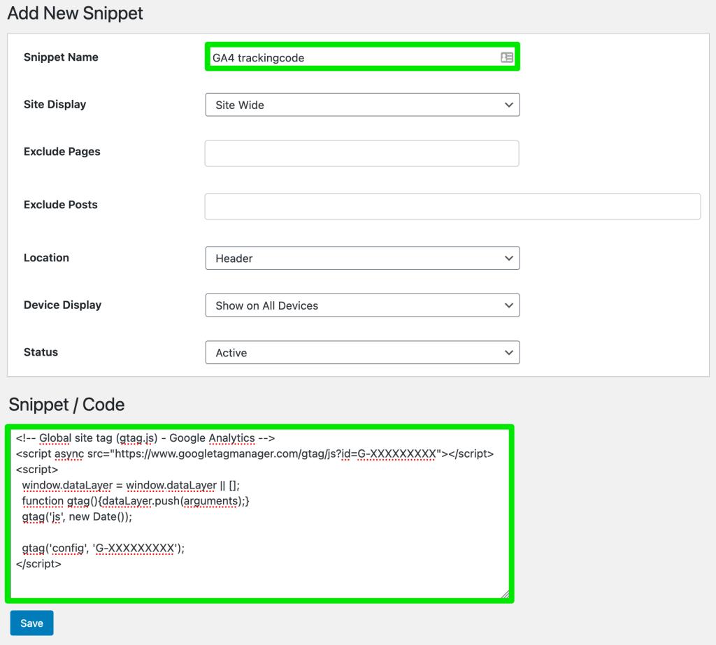GA4 trackingcode toevoegen aan je website