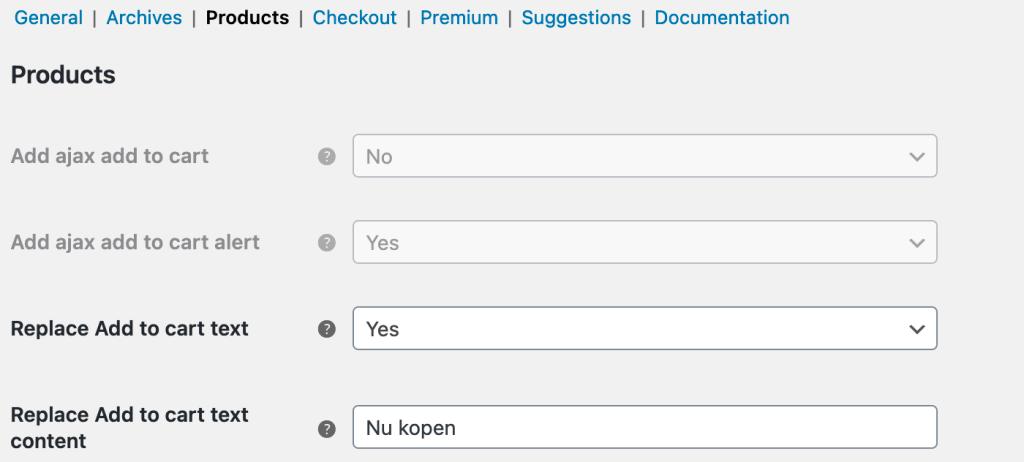 In winkelmand tekst aanpassen met de Direct Checkout plugin