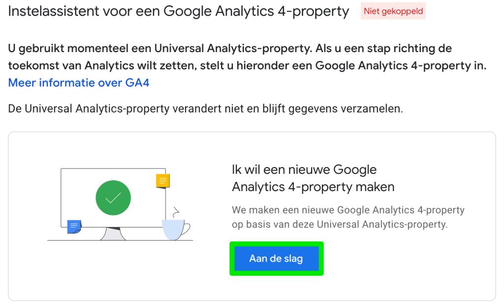 Google Analytics 4-property maken