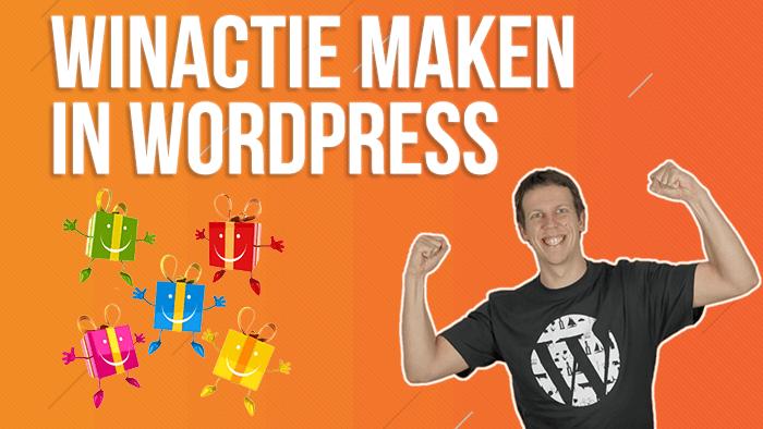 Winactie maken in WordPress