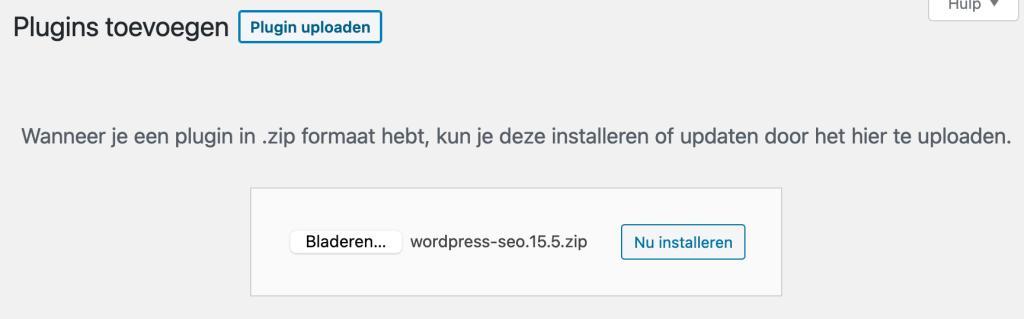 WordPress plugin uploaden en installeren