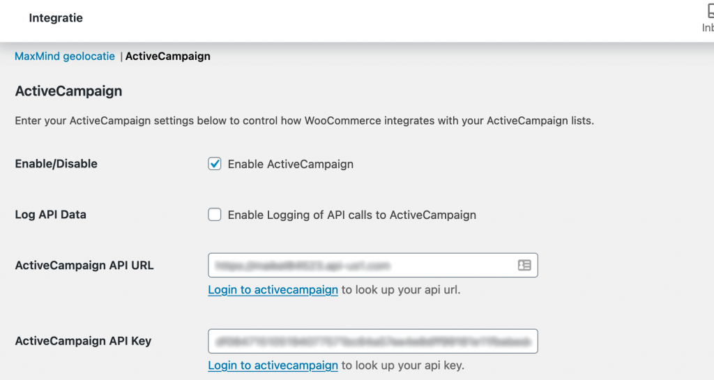 WooCommerce ActiveCampaign koppeling