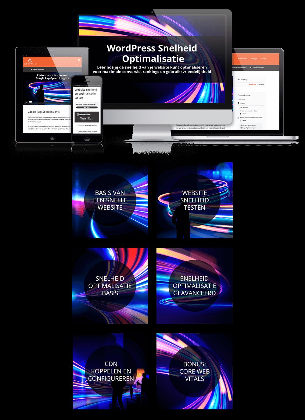Website Snelheid Optimalisatie mock-up