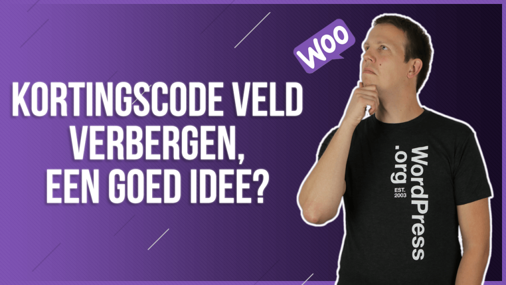 WooCommerce kortingscode veld verbergen