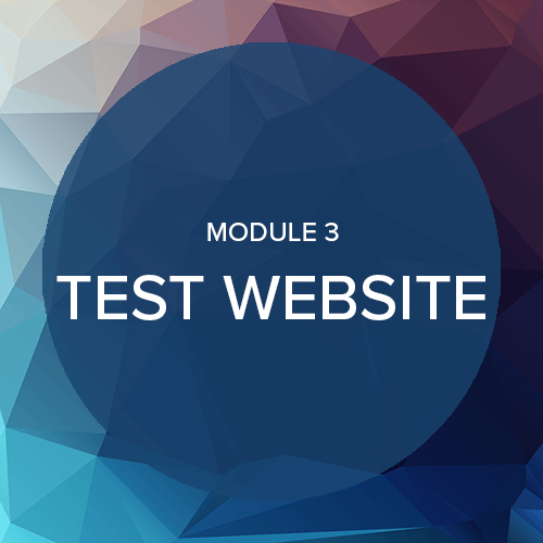 WordPress onderhoud module 3: Test website